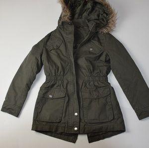 Host Picked🎉- Jou Jou Faux Fur Hood Green Jacket